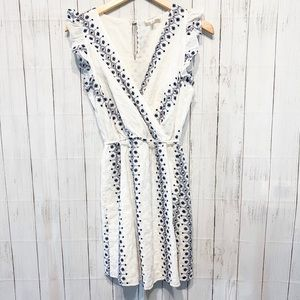 Everly White and Navy Dress - S